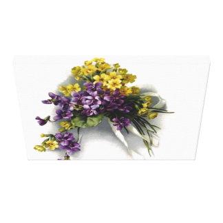 Impresión estirada ramo violeta de la lona del impresión en lona