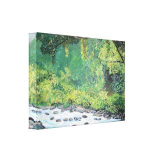 Impresión estirada selva tropical de la lona impresion de lienzo