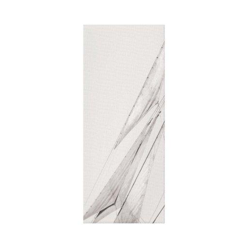 Impresión estirada velas blancos y negros de la lo lona estirada galerías