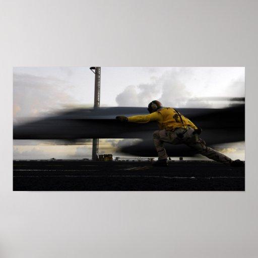 Impresión estupenda del avispón de FA-18E Póster