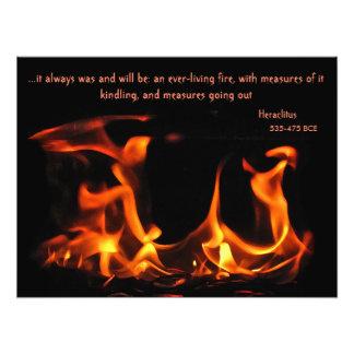 Impresión eterna de la foto del fuego de
