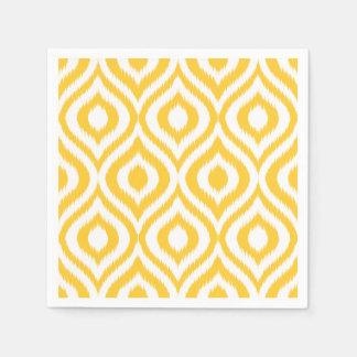 Impresión étnica geométrica clásica amarilla de servilleta desechable