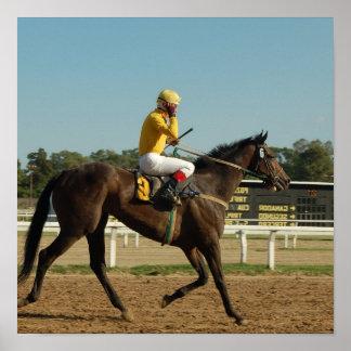 Impresión excelente del poster del caballo de raza