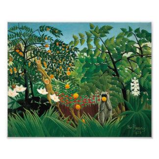Impresión exótica del paisaje de Henri Rousseau Fotografias