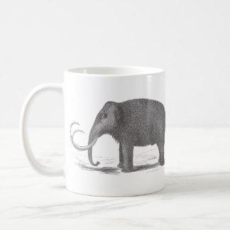 Impresión extinta de la antigüedad del mastodonte taza de café