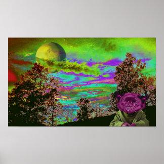 Impresión extranjera del cielo póster