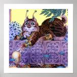 Impresión extranjera del gatito posters