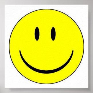 Impresión feliz de la cara posters