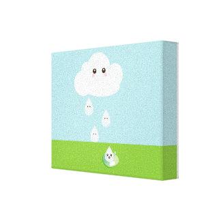 Impresión feliz de la lona de la nube impresión de lienzo