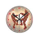 Impresión FELIZ de las CELEBRACIONES: Danza de la  Reloj De Pared