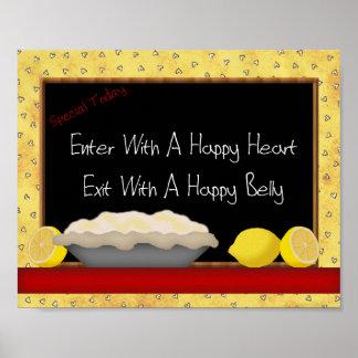 Impresión feliz del Belly del corazón feliz Póster