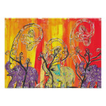 Impresión feliz del desfile del elefante posters