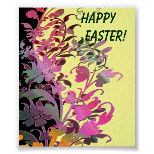 Impresión feliz del poster de Pascua