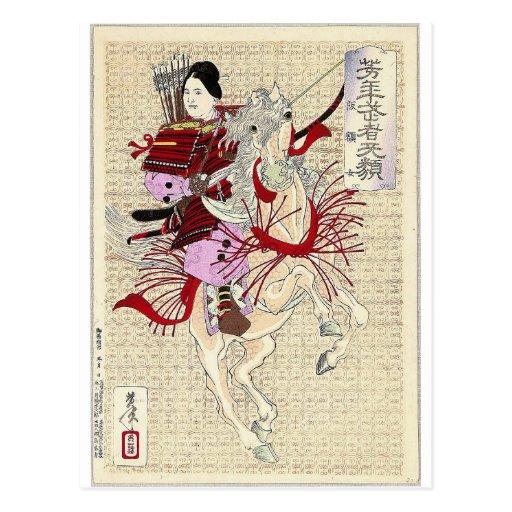Impresión femenina de Woodblock del japonés del gu Tarjeta Postal