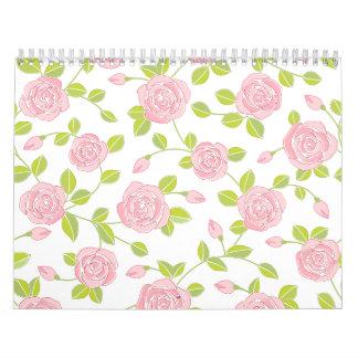 Impresión femenina del estampado de flores clásico calendarios de pared