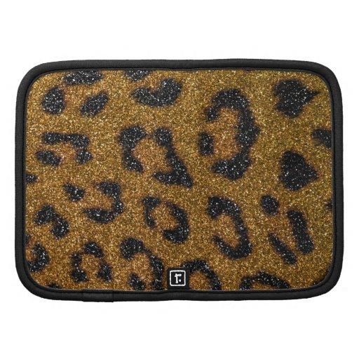 Impresión femenina del oro y del guepardo del bril organizador