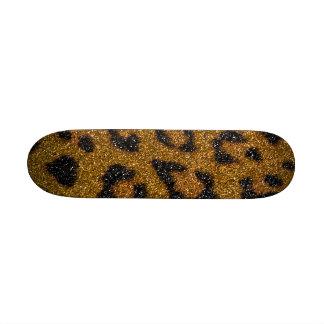 Impresión femenina del oro y del guepardo del bril patin