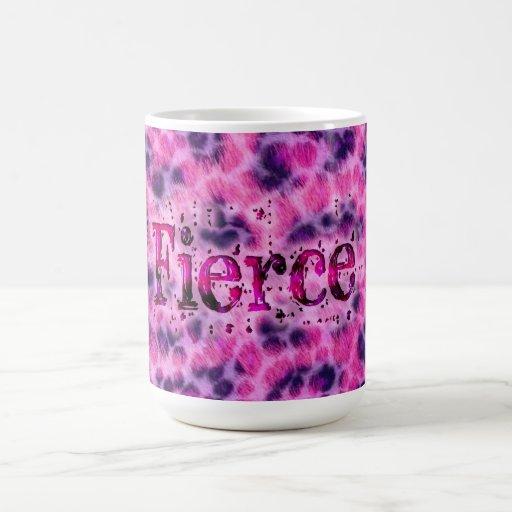 Impresión feroz del guepardo tazas de café