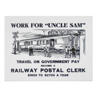 Impresión ferroviaria 1926 del vendedor postal póster