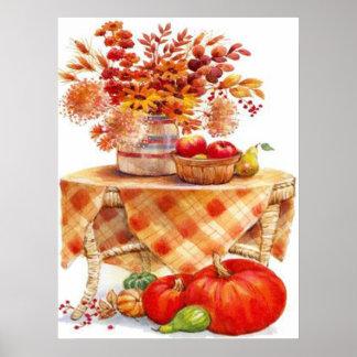 Impresión festiva de la tabla del otoño impresiones
