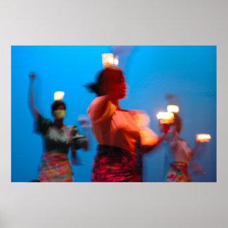 Impresión filipina de la danza Pandango sa Ilaw Poster
