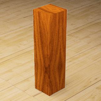 Impresión fina de la chapa de la teca caja de vino