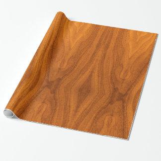 Impresión fina de la chapa de la teca papel de regalo