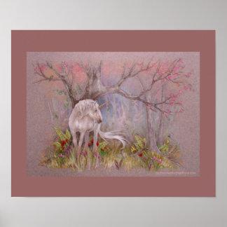 Impresión - floraciones de la primavera del unicor impresiones