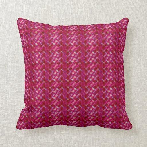 Impresión floral abstracta rosada femenina linda cojin