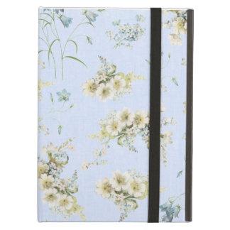 Impresión floral azul y blanca del vintage