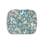 Impresión floral azul y blanca del vintage de la m