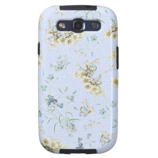 Impresión floral azul y blanca del vintage galaxy SIII protector