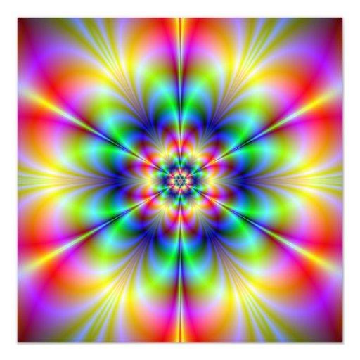 Impresión floral de la foto del Psychedelia