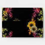 Impresión floral del amarillo del oro del sobre