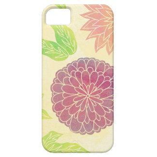 Impresión floral del arándano y del naranja iPhone 5 Case-Mate fundas