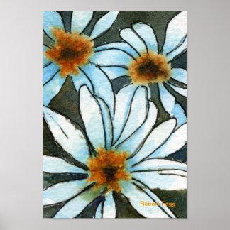 Impresión floral del arte #1 de Fiesty Póster