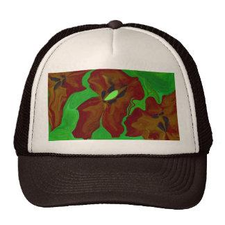 impresión floral del arte abstracto gorro