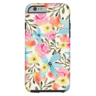 Impresión floral del paraíso funda de iPhone 6 tough