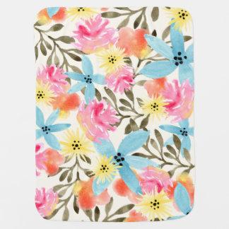 Impresión floral del paraíso mantas de bebé