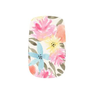 Impresión floral del paraíso pegatina para uñas