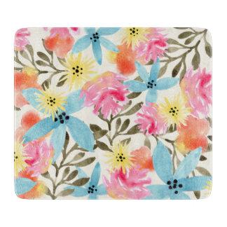 Impresión floral del paraíso tablas para cortar