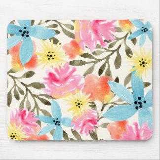 Impresión floral del paraíso tapete de ratón