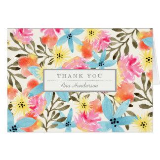 Impresión floral del paraíso tarjeta pequeña