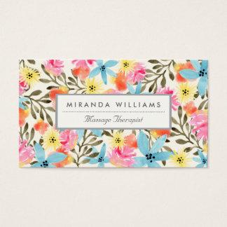 Impresión floral del paraíso tarjetas de visita