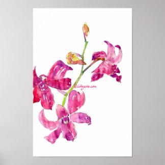Impresión floral del poster del bosquejo de los be