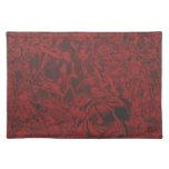 Impresión floral del rosa rojo manteles individuales