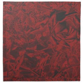 Impresión floral del rosa rojo servilletas de papel