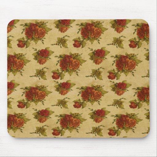 Impresión floral del vintage de Mousepad Alfombrillas De Ratón