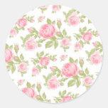 Impresión floral femenina de los rosas del vintage pegatina