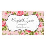 Impresión floral femenina de los rosas del vintage tarjeta de visita